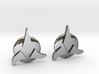 Klingon Cufflinks 3d printed