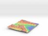 Mars Map: Martian Meanders - Vivid 3d printed