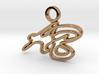 Personalised Brush Script Font AB Charm 3d printed Personalised Brush Script Font AB Charm