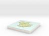 Codfish Island / Whenua Hou - 15cm / 1:50k 3d printed