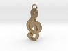 Music Pendant - Treble Clef  3d printed