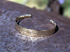 Stitch Bracelet 3d printed Polished Bronze