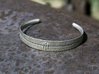 Stitch Bracelet 3d printed Polished Nickel Steel