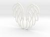 Angel Wing Earrings 3d printed