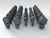 1/400 RN WW2 Searchlight Upgrade Set 3d printed 3d render showing detail