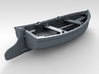 1/72 Scale Allied 10ft Dinghy with Rudder 3d printed 3d render showing product detail
