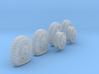 1-72 8-25x20 Worn Tire Halftrack Set3 3d printed