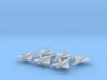 Convair F2Y Sea Dart 1/600 (x6) 3d printed