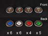 Descent Objective tokens - expansions (21 pcs) 3d printed White Strong Flexible, painted.