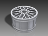 Multispoke Racing Wheel Small 4 piece set 3d printed