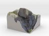 Yosemite - Half Dome Map: 6 inch 3d printed