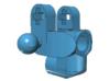 Mini MacPherson strut hubs 3d printed