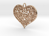 Beautiful Romantic Lace Heart Pendant Charm 3d printed