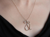 The Cat Pendant 3d printed Printed in Premium Silver (no cord or jump ring included).