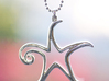 The Star Pendant 3d printed Printed in Premium Silver (no chain or jump ring included).
