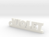 VIOLET Keychain Lucky 3d printed