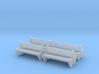 TJ-H04555x4 - bancs de quai en beton, doubles 3d printed