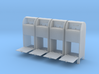 USPO Mail Collection Box - set of 4 - 1:35scale 3d printed