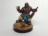 Dwarf Monk 3d printed Painted using acrylic paints. Pictured on a custom 1 inch base.