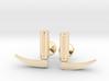 Laryngoscope cufflinks (gold + other metals) 3d printed