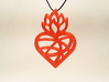 Flaming Heart No.02 3d printed Test print from my 3d printer. PLA, 1.75mm