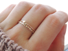 Twin Heart Ring (Multiple Sizes) 3d printed Twin Heart and 'You Are Loved' Ring in Polished Bronze