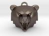 Bear Head Pendant 3d printed