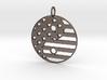 American USA Flag Yin Yang Symbol Pendant Charm 3d printed