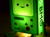 BMO Lamp in Color 3d printed Lit with a 7watt bulb. Comes across more as a night light than a lamp.