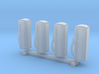N Scale '50s Gas Pumps 4pc 3d printed