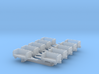 GSE 1:400 10x Baggage Cart Empty 3d printed