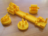 Catan Pieces - Orange City And Knights 3d printed Base set of tokens and knights expansion tokens