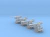 "1/96 RN 4""/45 (10.2 cm) QF MKV MKIII x4 3d printed 1/96 RN 4""/45 (10.2 cm) QF MKV MKIII x4"