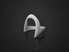 Wish-Bone Ring (v1.2) 3d printed Your essential wish-bone ring. 3D print in White Nylon Plastic.