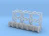N Scale Cable Reel Storage + 6 reels 3d printed