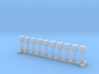 N Scale 10x Fire Hydrant #3 3d printed