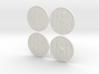 """BotW"" Basic Shields Set 3d printed"