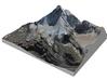 """Matterhorn / Monte Cervino Map: 9"""" (22.8 cm) 3d printed"""