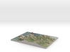"Marin Headlands Map: 8.5""x11"" 3d printed"