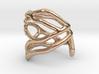 Coral midi ring (C) 3d printed