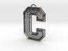C Pendant 3d printed