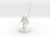 Gnome Female Fighter - Pike weilder 3d printed