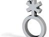 Nonbinary/Genderqueer Symbol Pendant 3d printed