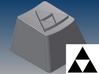 Legend of Zelda - Triforce Keycap (R4, 1x1) 3d printed