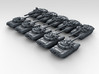 1/600 Russian T-90 Main Battle Tank x10 3d printed 3d render showing product detail