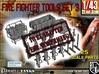 1-43 Firemen Tools Set 3 3d printed