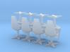 8 Swivel Chairs Hi Rez (Star Trek Classic), 1/72 3d printed
