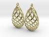 Flasket Earrings in Cast Metal 3d printed