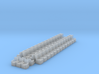 HO Pullman Parlor Car Seating Kit 3d printed Complete HO set of 52 wing back chairs and 6 bucket chairs.
