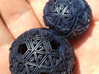 Soft-Boiled Geodesic (2.7cm) 3d printed Dyed with blueberry tea